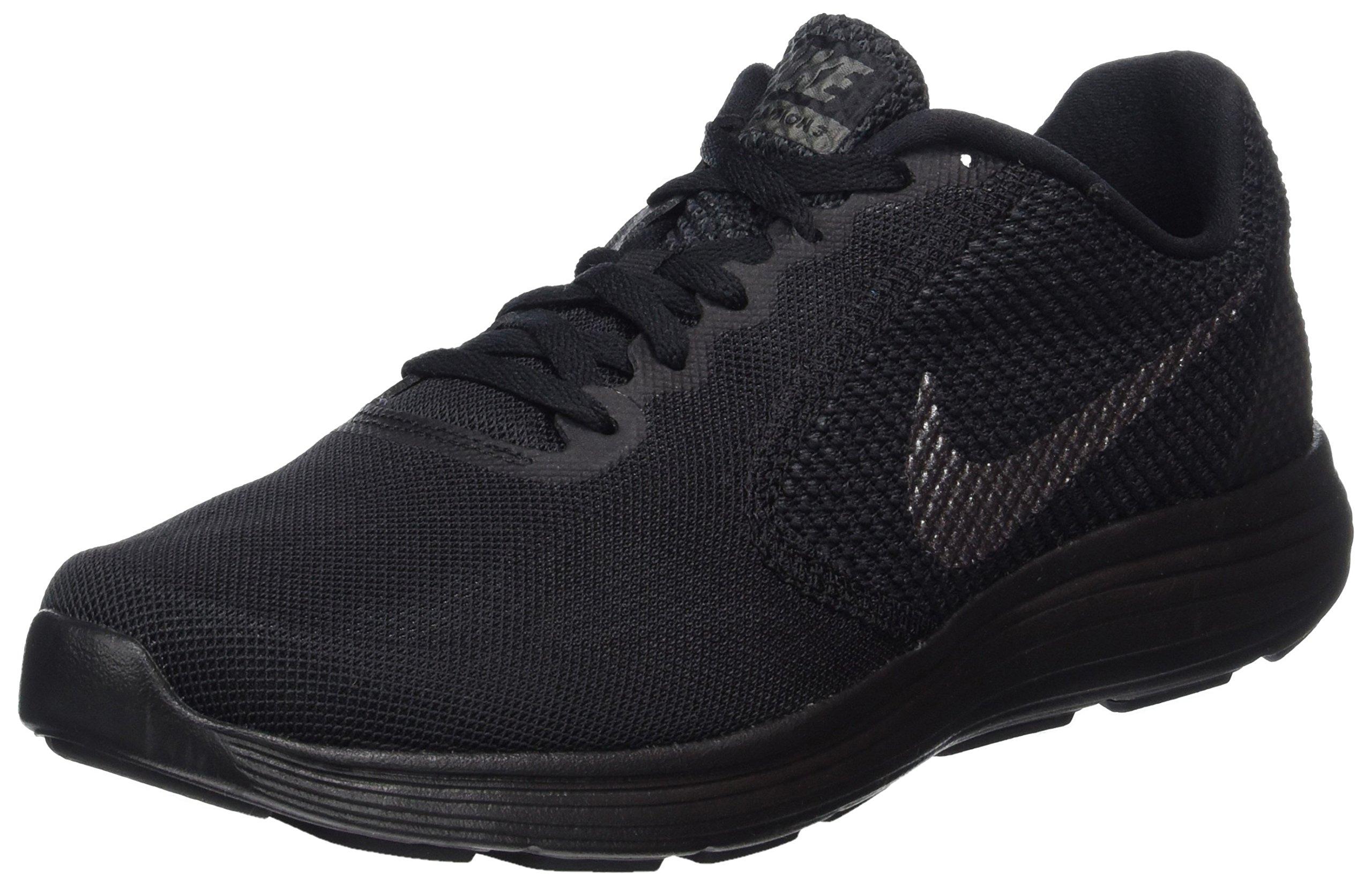 NIKE Men's Revolution 3 Running Shoe, Black/Metallic Dark Grey/Anthracite, 7 D(M) US