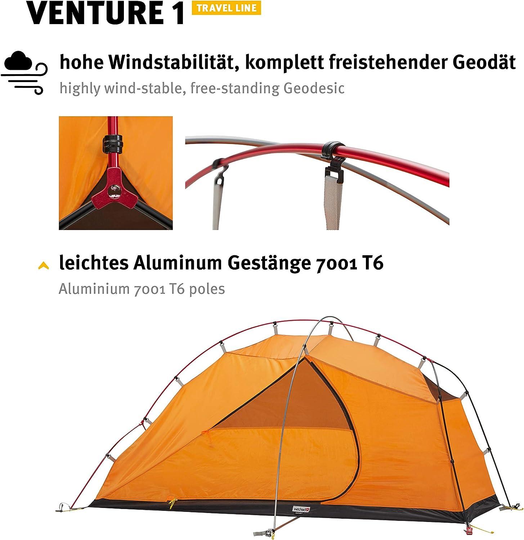Tente D/ôme 1 Personne Autoportante Imperm/éable 4 Saisons Wechsel Tents Travel Line Venture 1