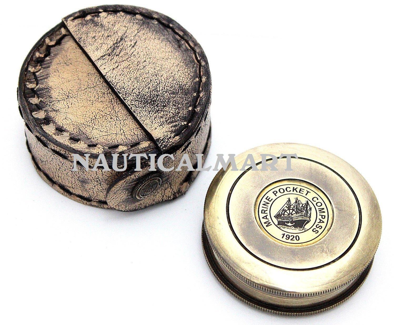Robert Frost Poem Compass-Pocket Compass w Leather Case By NauticalMart NauticalMart Inc