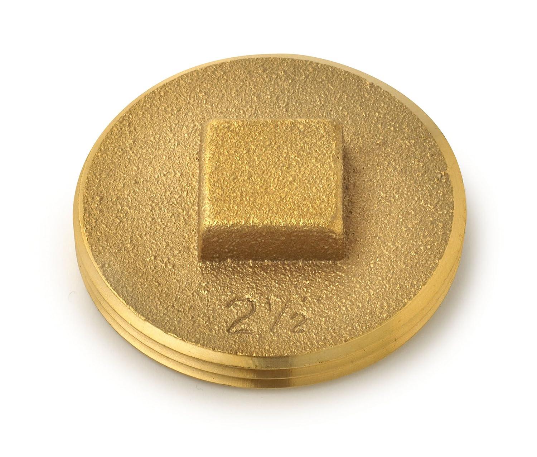 Oatey 42371 185 Brass Cleanout Plug, 2-1/2-Inch