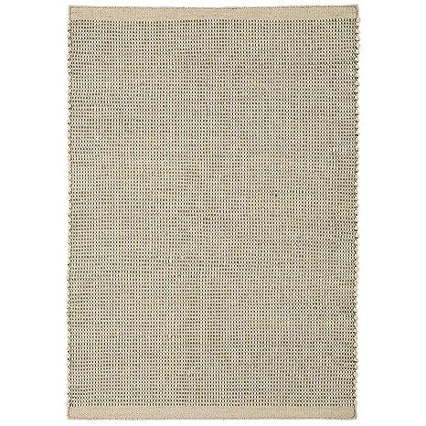 Amazon.com: Enzo crema lana de fibras Natural tela plano de ...