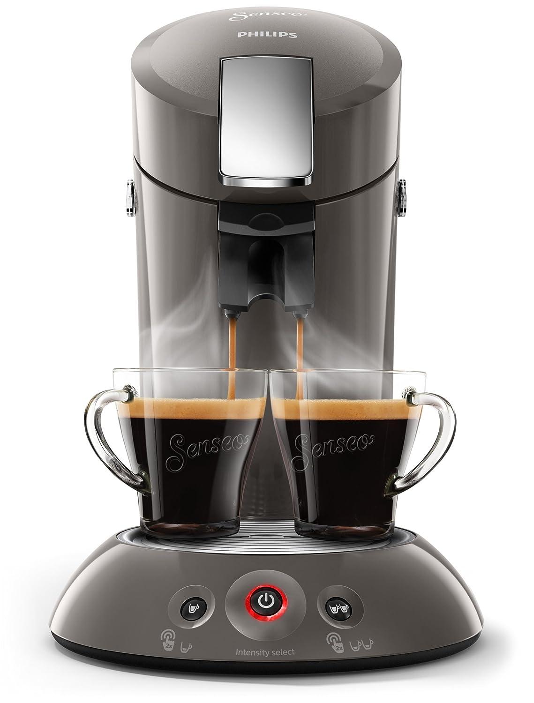 Senseo Original HD6556/00 Padmaschine with Kaffee-Boost dark grey metall