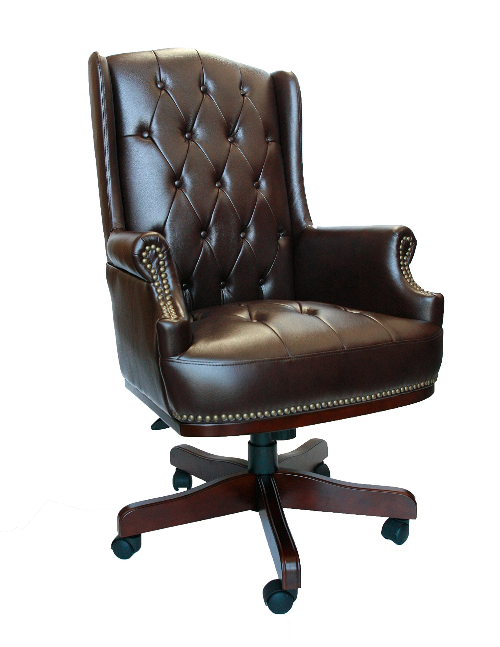 Luxury Managers Directors Chesterfield Antique Captain Style Leather Office Desk Chair Furniture Brown Buy Online In Cape Verde At Capeverde Desertcart Com Productid 48548198