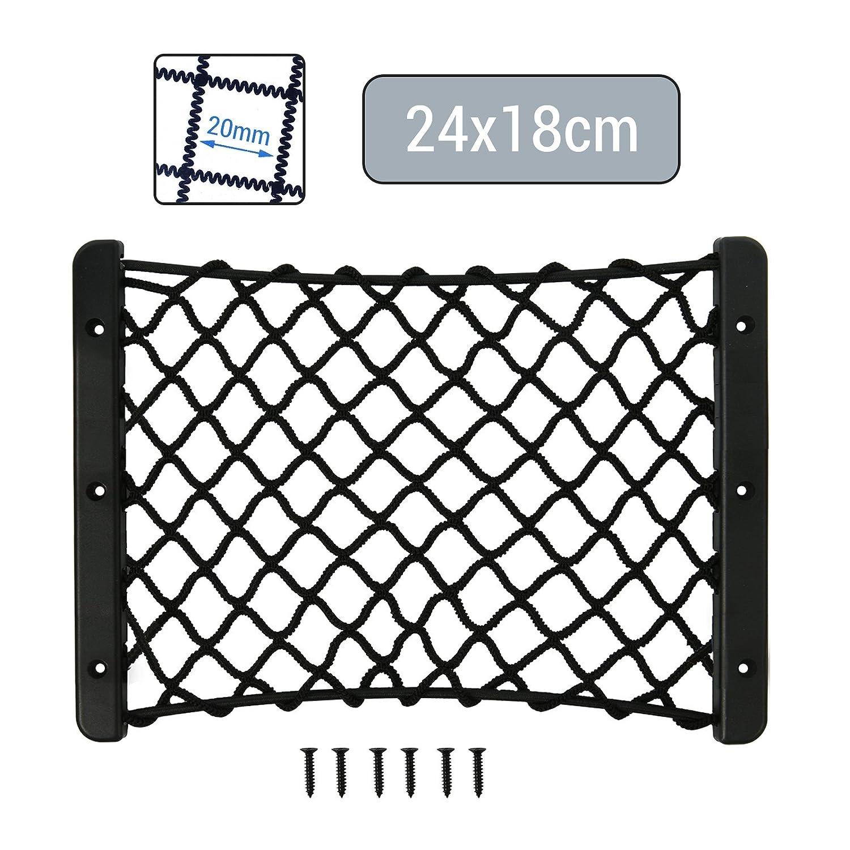 Filet de coffre /élastique avec vis 24 x 18 cm