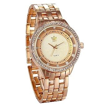 JewelryWe Reloj de Hombre Caballero Grande Reloj de Metal Buen Regalo Para Día del Padre, Elegante Sencillo Relojes para Hombre, Reloj Oro Rosa: Amazon.es: ...
