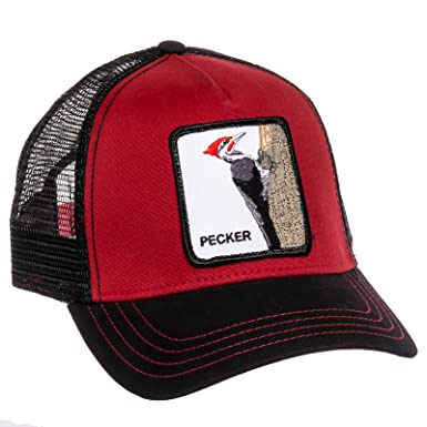 Goorin Bros Mens Woody Pecker Animal Trucker Baseball Cap (Red) 6e62bed6fcc