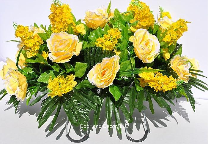 Amazon Yellow Rosesspring Mix Flowerscemetery Arrangement