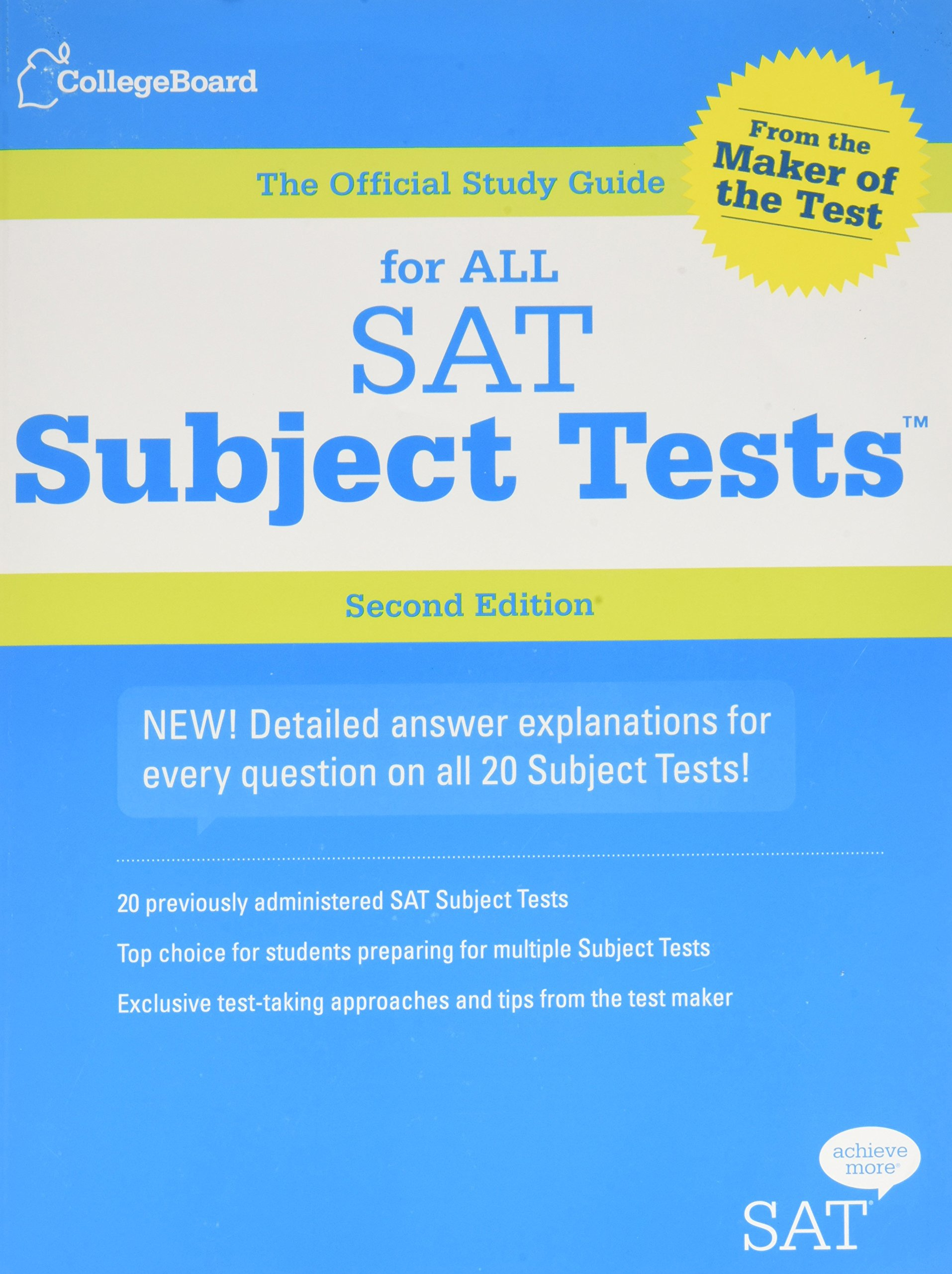 the official study guide for all sat subject tests with 2 cdroms