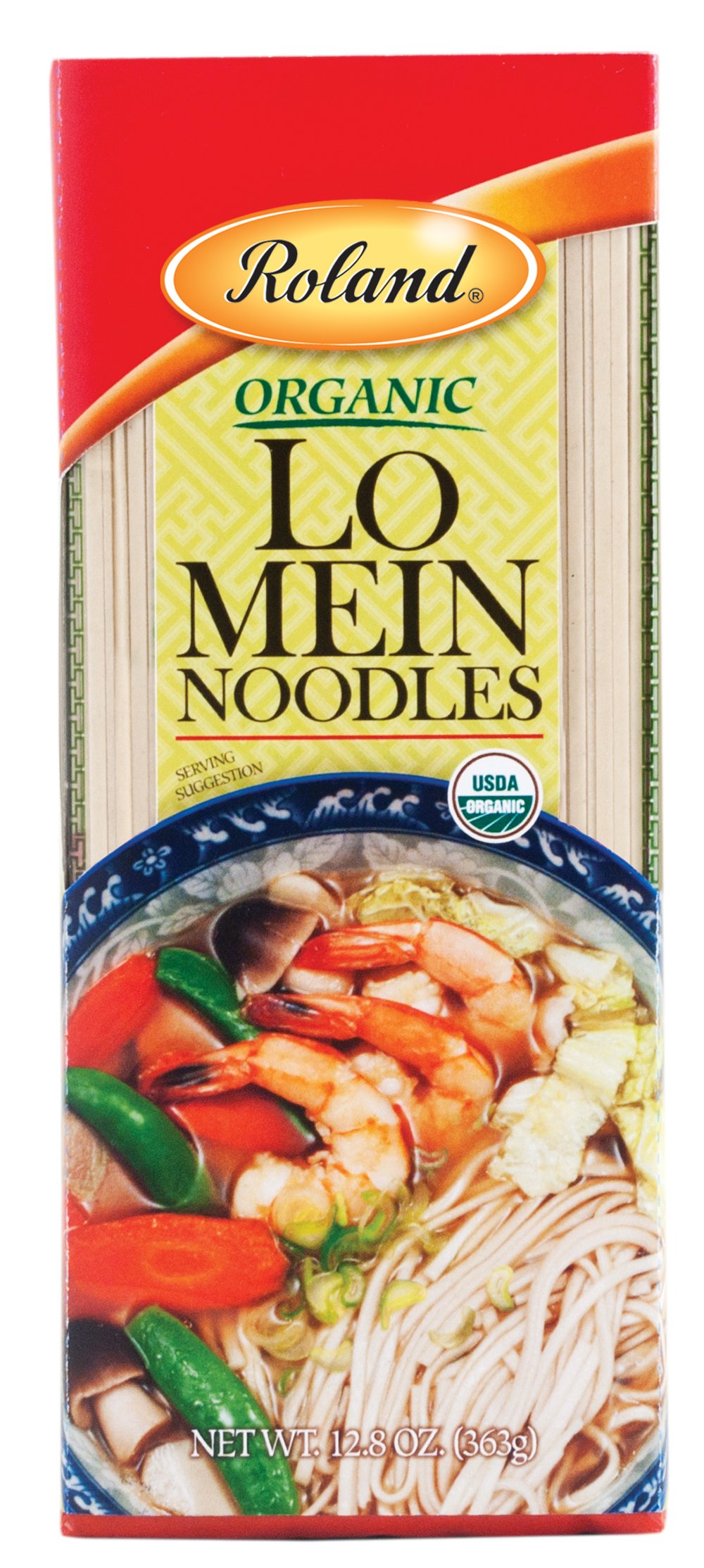 Roland Lo Mein Noodles, Organic, 12.8 Ounce (Pack of 30)