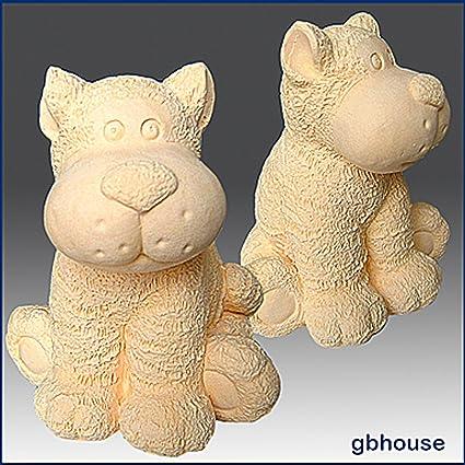 Juguete Tiger- 3d jabón/vela/polímero/arcilla/porcelana fría moldes de