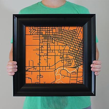 Amazon.com: Oregon State University Campus Map Art, 16.5\