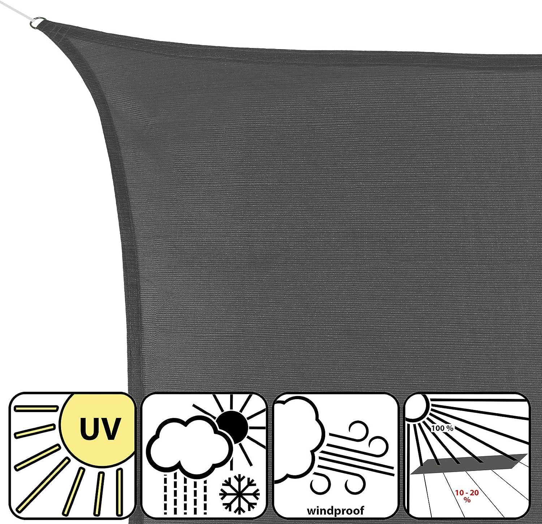 BB Sport Tenda Velo Sole 3m x 3m x 3m Cappuccino Triangolare Vela Sole Ombreggiante HDPE Protezione Solare UV 90/% Parasole Giardino Esterni
