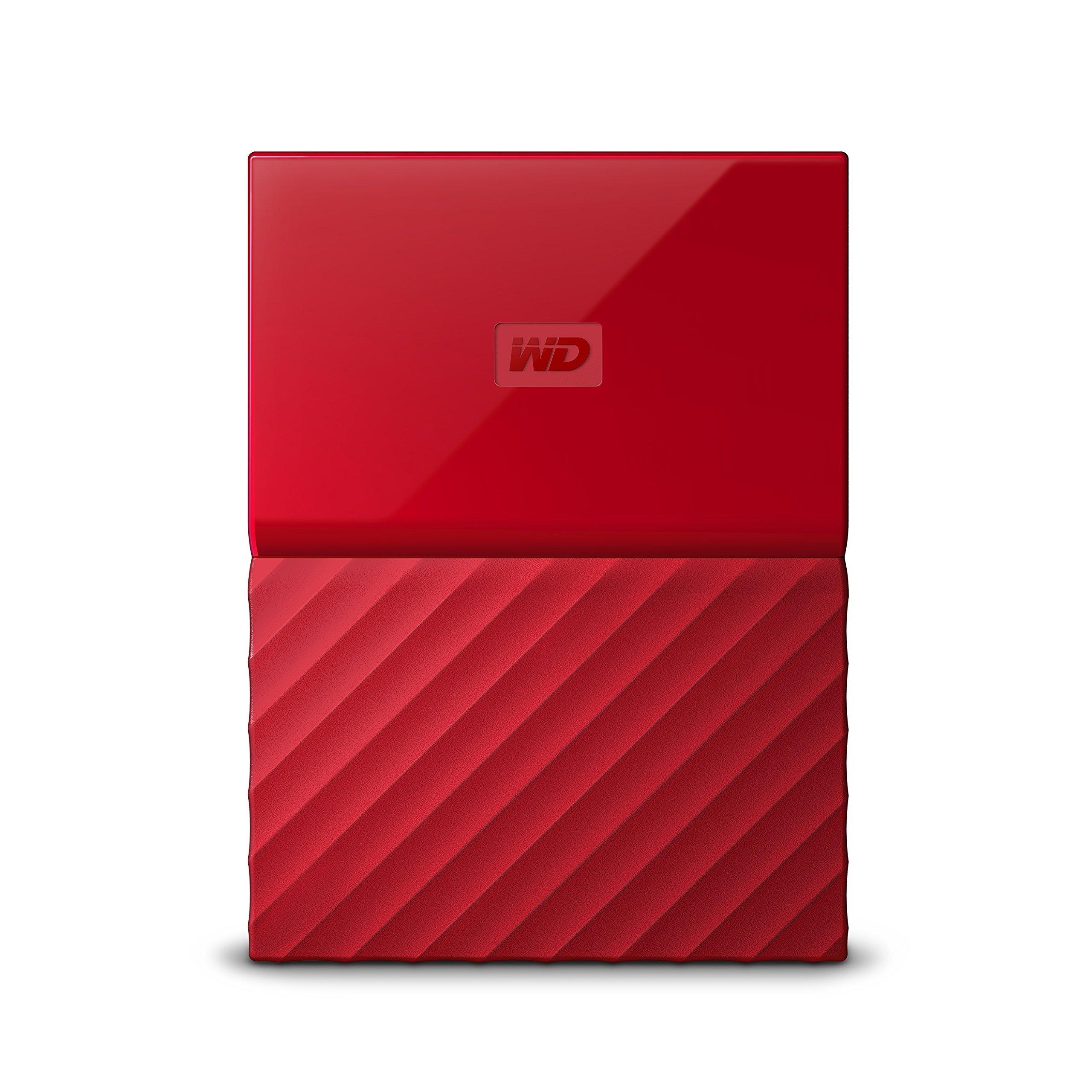 WD 2TB Red My Passport Portable External Hard Drive - USB 3.0 - WDBYFT0020BRD-WESN (Certified Refurbished)