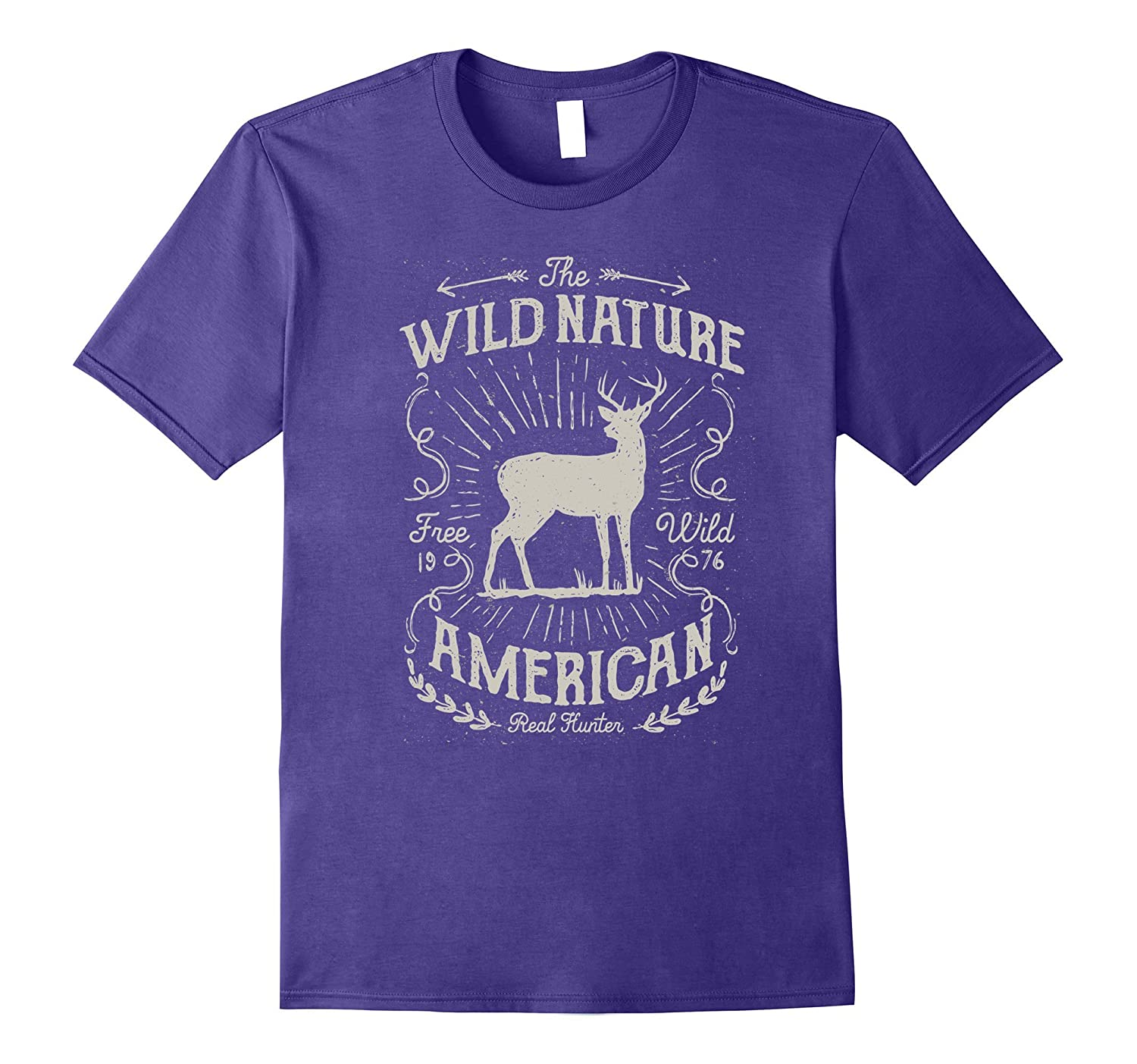 American Big Outdoors Wild Nature Stag Hunting T Shirt-CD