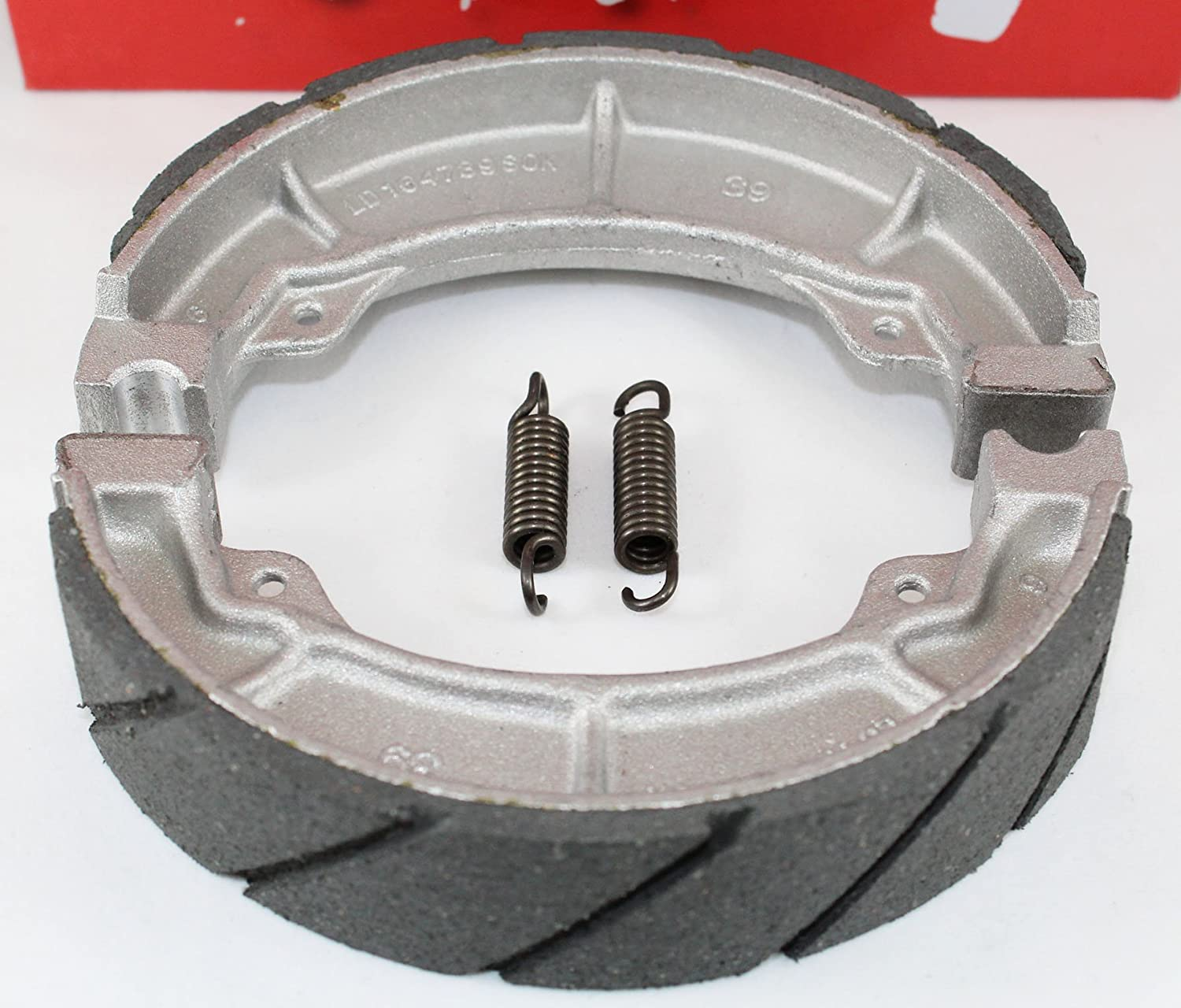 WATER GROOVED FRONT BRAKE SHOES /& SPRINGS for the 85-87 Honda ATC 250 ES Big Red 250SX