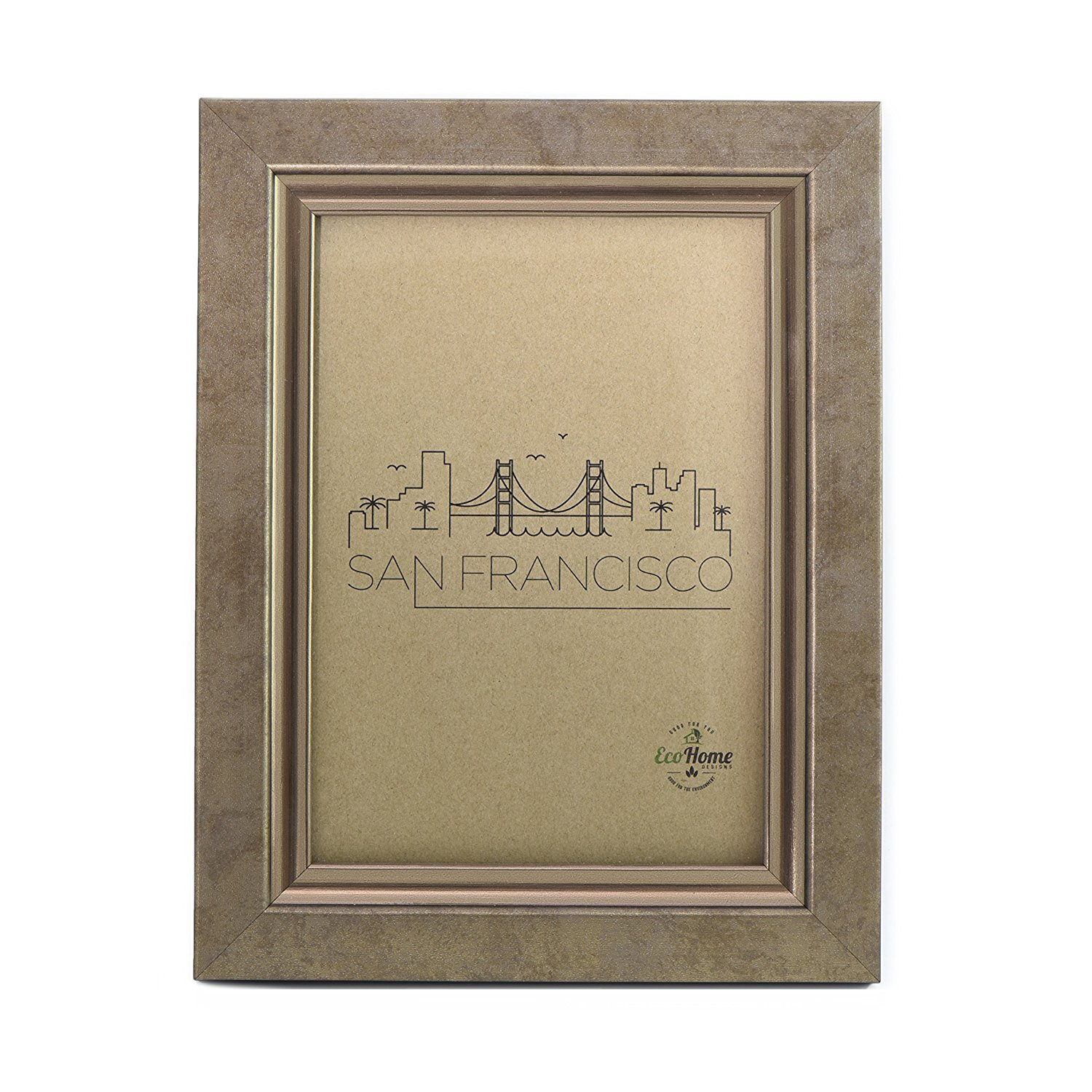 5x7 Picture Frame - Bronze Copper Mount Desktop Display, Frames by EcoHome