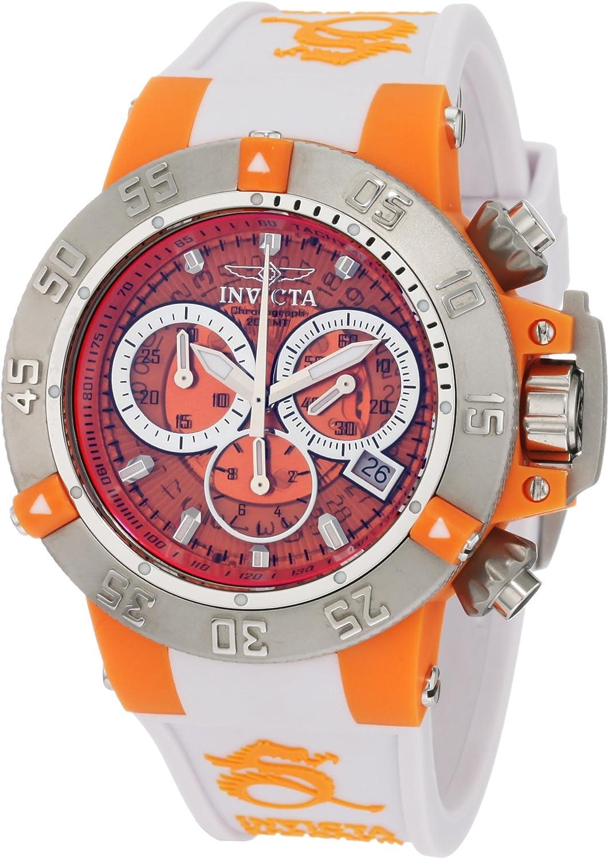 Invicta Invicta Subaqua 942 - Reloj cronógrafo de Cuarzo para Mujer, Correa de Silicona Color Blanco