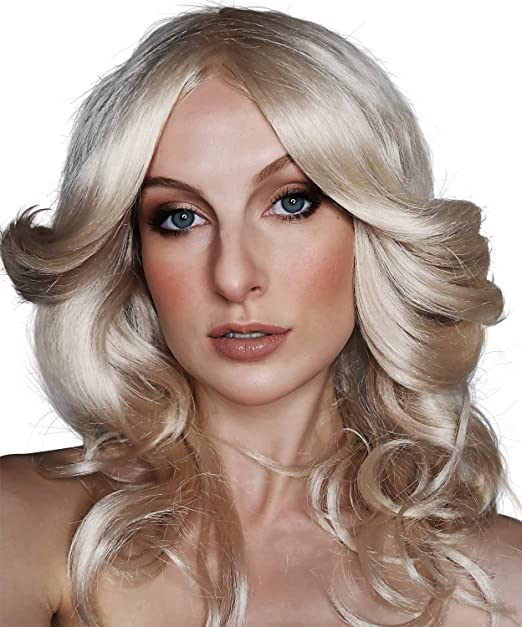 Allaura 70s Costumes Wig Women Blonde Feathered Wigs Disco Costume For 70 S Big Blond Hair