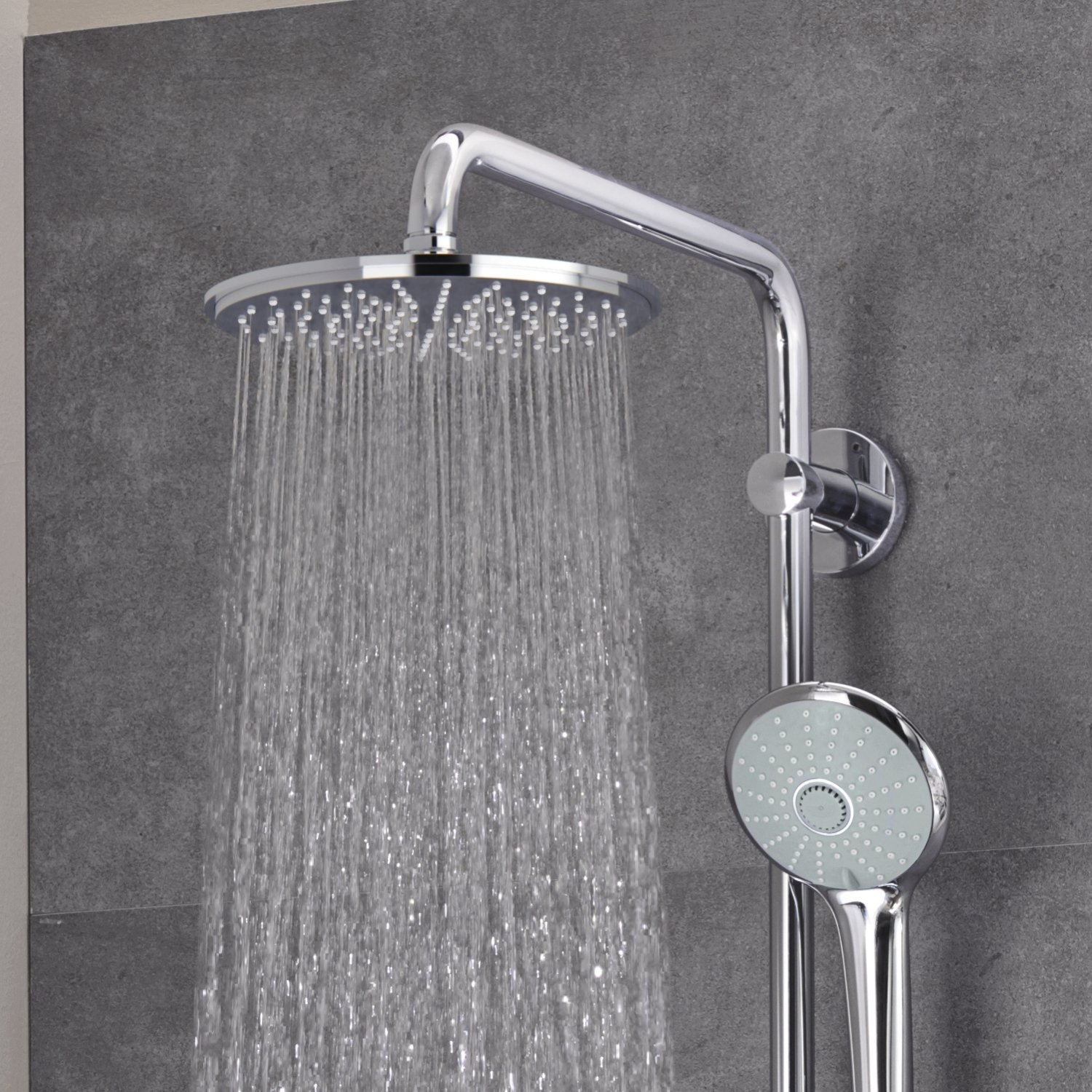 chrome slide system p grohe included in bars retro starlight fit shower arms valve