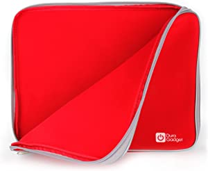 DURAGADGET Red Water & Shock Resistant Soft Case w/Dual Zips - Compatible with Lenovo IdeaPad Y50 | Ideapad Y40 | IdeaPad | Ideapad Y500 | Ideapad Z500 & IdeaPad Z585 Laptops