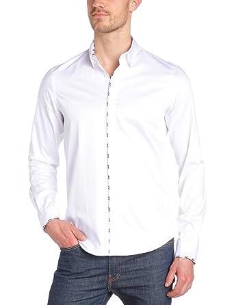 Joe Retro - Chemise - Homme - Blanc (White) - Medium  Amazon.fr ... b8adfb82cbb0