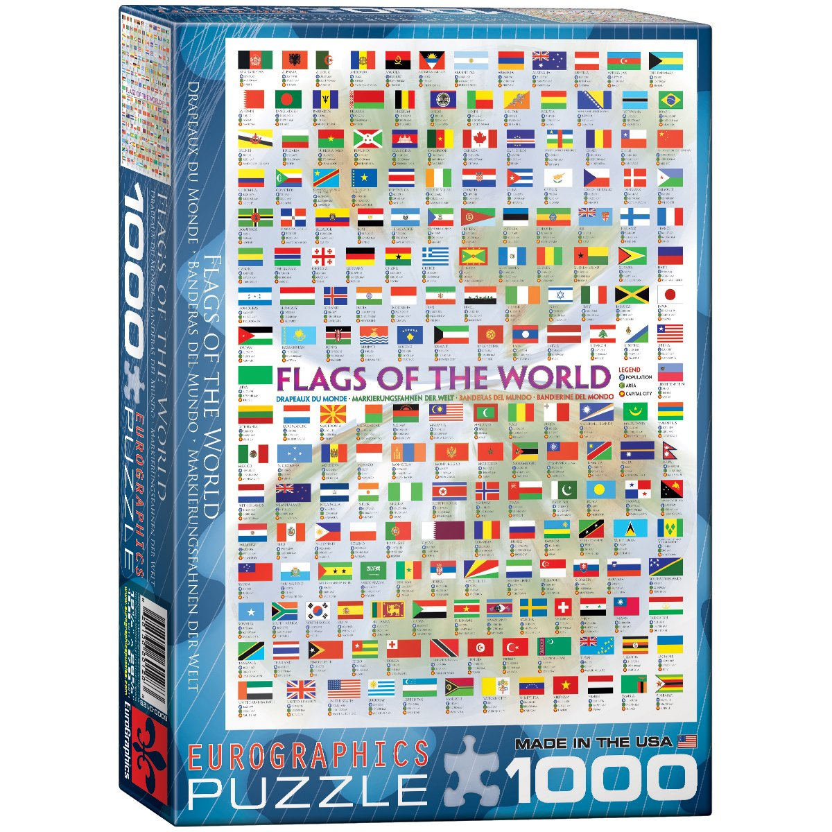Eurographics flags of the world 1000 piece puzzle jigsaw puzzles eurographics flags of the world 1000 piece puzzle jigsaw puzzles amazon canada gamestrikefo Images