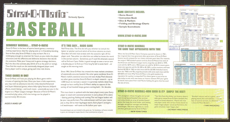 Amazoncom Strat O Matic Baseball Southern Edition Toys