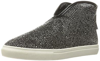 N.Y.L.A. Womens Christel Fashion Rhinestone Sneaker Shoe Black Size 10 M US