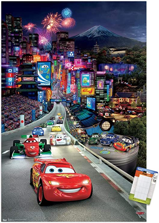 Amazon Com Trends International Poster Mount Disney Pixar Cars 2