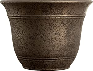 Listo SRA13001P02 Sierra Planter, Nordic Bronze Planter, 13-Inch Width