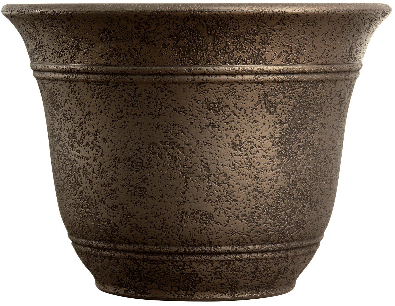 Listo SRA13001P02 Sierra Planter, Nordic Bronze Planter, 13-Inch Width by Listo