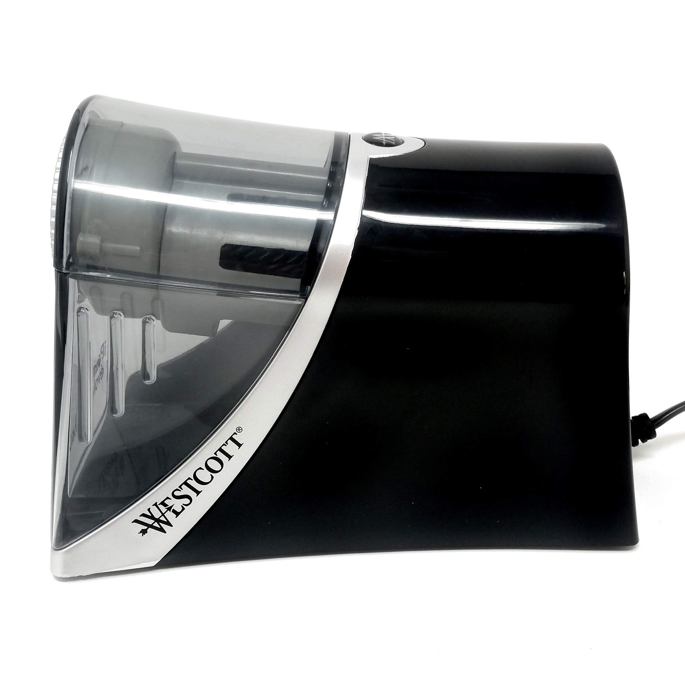 Westcott - iPoint évolution Axis - Auto-Stop Electric Desktop Pencil Sharpener with UK Plug - Carbon Steel Blades by Westcott (Image #2)