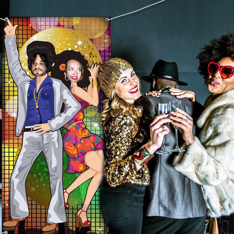 70 Jahre Tanzen Party Dekoration 70 Jahre Foto T/ür Banner Hintergrund Requisiten Gro/ße Foto Hintergrund f/ür 70 Jahre Thema Party Dekor Disco Thema Party Lieferungen mit Seilen
