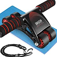 DMASUN Ab Roller Wheel, Ab Roller Exercise Equipment, Four Wheels Abdominal Roller...
