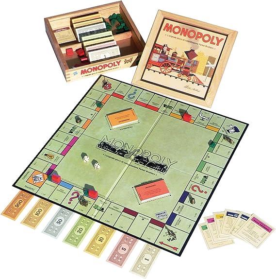 Hasbro Monopoly Nostalgia - Juego de Mesa (Caja de Madera, en ...