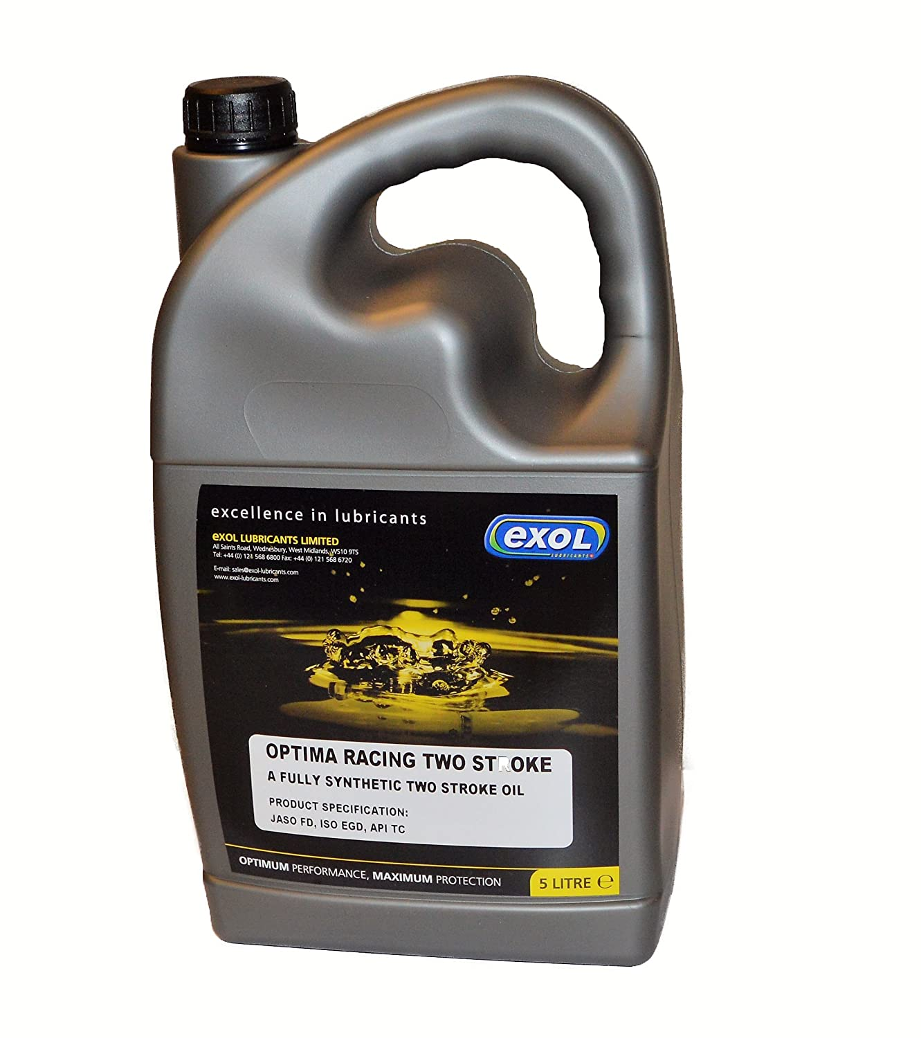 5 Litre Exol Optima Racing Fully Synthetic 2 Stroke Oil