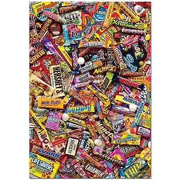 Amazon.com: Educa 500 Piece Assorted Chocolate Candy Bares ...