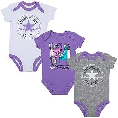 9d222773766 Converse Girls Baby Girls Hanging Gift Set in White - 0-3m  Converse ...