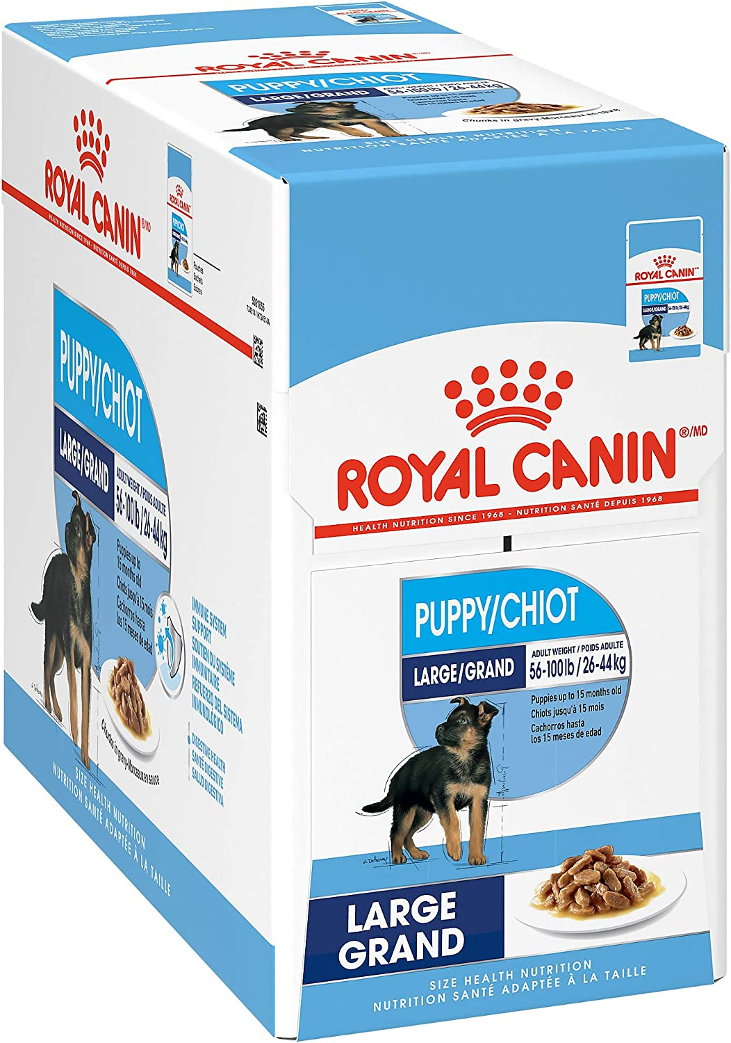 Royal Canin Size Health Nutrition Large Breed Chunks in Gravy Pouch Dog Food