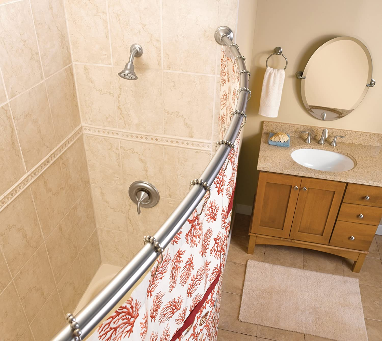 Amazon.com: Moen CSR2165OWB 5 Foot Fixed Length Curved Shower Rod, Old  World Bronze: Home Improvement
