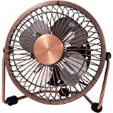 MerLerner USB Desk Fan 4 Inch Mini Portable Ultra Quiet Cooling Fan 360°Rotation for Home Office Table USB Powered ONLY…