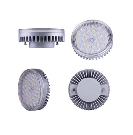 Lampaous LED GX53 bombilla, 8 W 640lumens, color blanco cálido, bajo consumo,