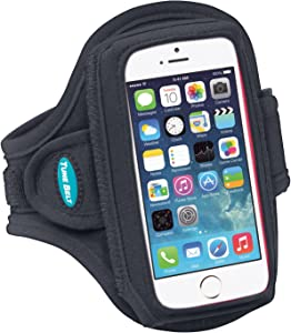 Tune Belt Armband for iPhone SE (1st Generation 2016) and iPhone 5s 5 5c - with a Slim Case - Water-Resistant [Black]