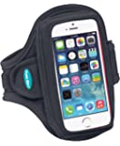 Armband for iPhone SE 5s 5 5c - Fits With a Slim Case - Water-Resistant [Black]