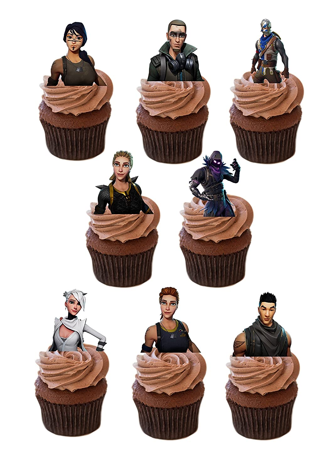 27 x FORTNITE Stand UP precut Edible Cupcake Topper Birthday Cake Topper channys cake toppers
