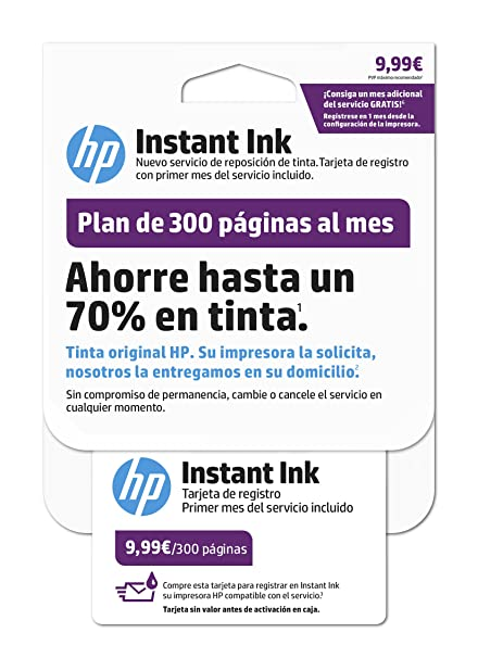 HP Instant Ink - Primer mes del servicio de reposición de tinta de ...