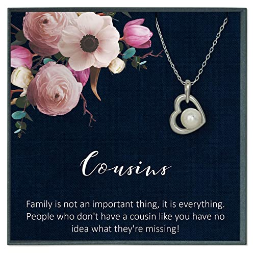 Amazon.com: Grace of Pearl Cousin Quotes Jewelry Cousin ...
