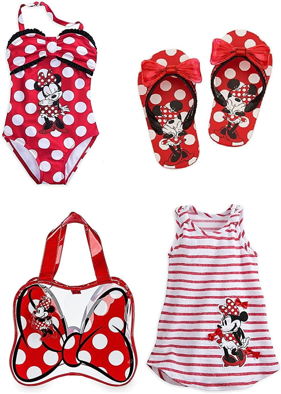 Girls 2, 3, 4, 5//6 New Pink Disney Minnie Mouse Swimsuit Cover-up