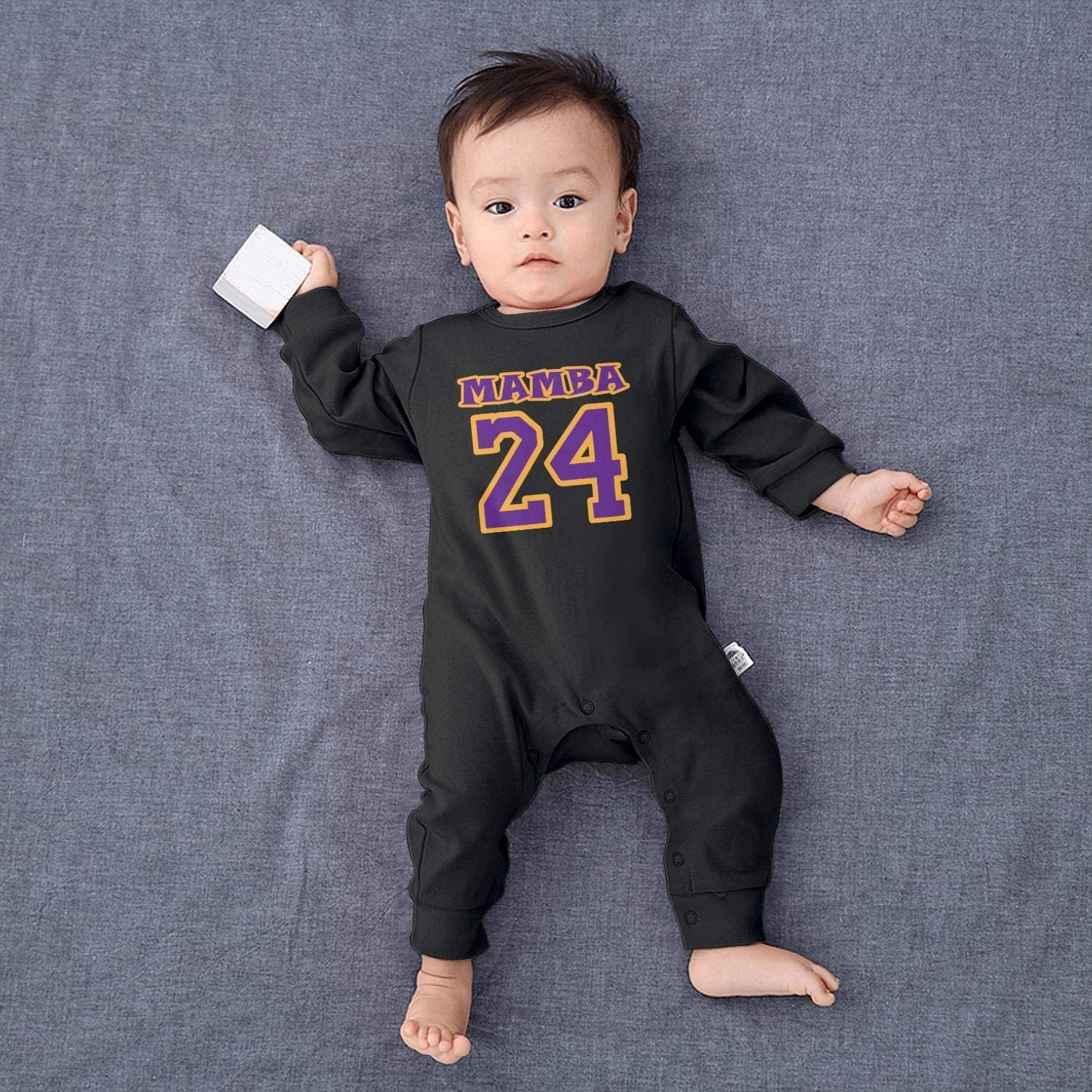 Unicorns Farting Mamba-24-Players-Basketball-Legends Toddler Cotton Romper Print Long Sleeve Bodysuits