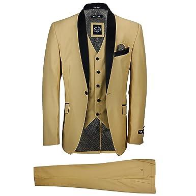 Xposed - Traje - para hombre amarillo Dorado Champagne pecho 46 ...